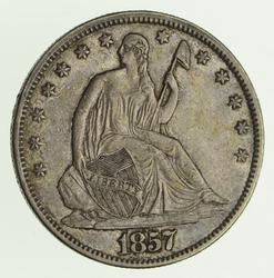 1857 Seated Liberty Silver Half Dollar - Circulated