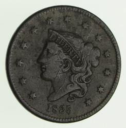 1835 Young Head Large Cent - Circulated
