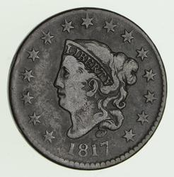 1817 Matron Head Large Cent - Circulated