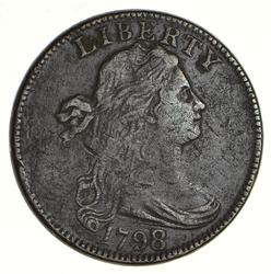 1798/7 Draped Bust Large Cent - Circulated
