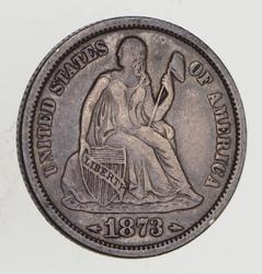1873 Seated Liberty Silver Dime - Circulated