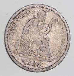 1884-S Seated Liberty Dime - Circulated