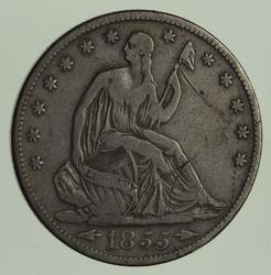 1855-S Seated Liberty Half Dollar - Arrows - Circulated