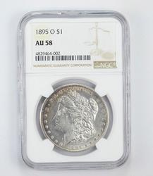 AU58 1895-O Morgan Silver Dollar - Graded by NGC