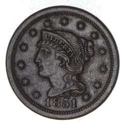 1851 Braided Hair Large Cent - Choice
