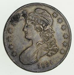 1834 Capped Bust Half Dollar - Sharp