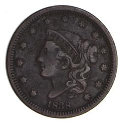 1838 Young Head Large Cent - Sharp