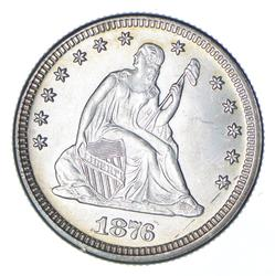 1876 Seated Liberty Silver Quarter - Uncirculated