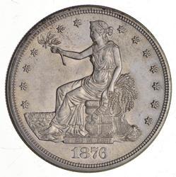 1876-S Seated Liberty Silver Trade Dollar - Choice