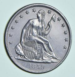 1859-S Seated Liberty Half Dollar