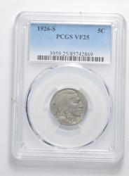 VF25 1926-S Indian Head Buffalo Nickel - Graded PCGS