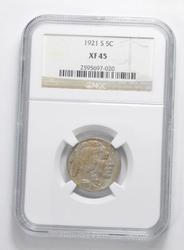XF45 1921-S Indian Head Buffalo Nickel - Graded NGC