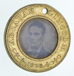 1860 Abrahamm Lincoln Hamlin Farotype Medal