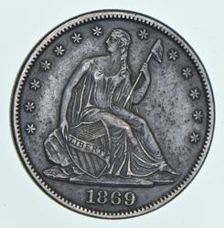 1869 Seated Liberty Half Dollar
