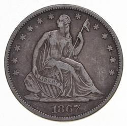 1867-S Seated Liberty Half Dollar