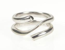 18K White Gold Georg Jensen Magic Designer Ornate Bypass Ring
