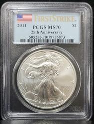 2013 (W) Certified Silver Eagle PCGS MS70