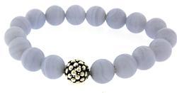 Maya Bead Blue Lace Agate Bracelet