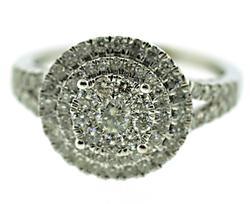 Gorgeous Diamond Cluster White Gold Ring