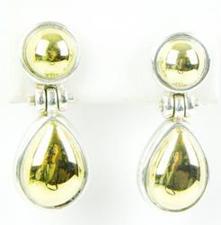 Two-Tone Italian Sterling/18K Gold Drop Earrings