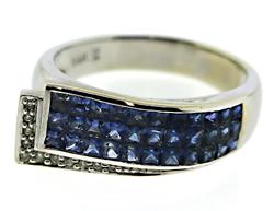 Stunning Blue Sapphire and Diamond Ring