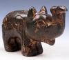Jade Stone Nephrite Carved Noise up Elephant