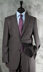 A Classy 2-Button Charcoal. Gray Color Suit By Galante