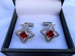 Handsome Jeweled Cufflinks By Carell