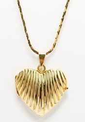 14KT Heart Locket and chain