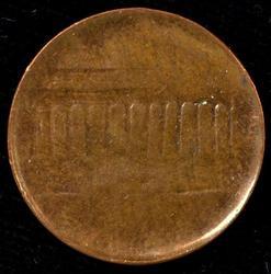 Scarce Undated Reverse Brockage Error Lincoln Cent. Unc
