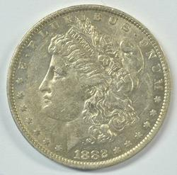 Lustrous near mint 1882-O/S Morgan Silver Dollar
