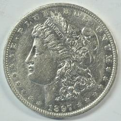 Well struck and lustrous near mint 1897-O Morgan Dollar