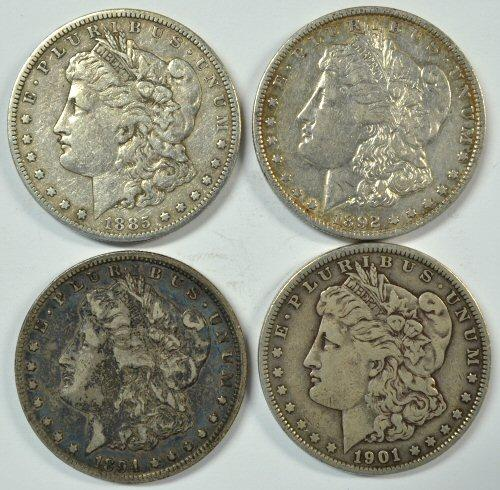 4 Better date Morgan Silver Dollars in nice conditions