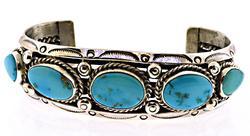 Bagay Navajo Blue Turquoise Cuff Bangle