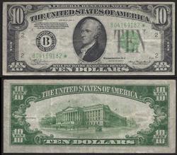 $10 1934-A Star LGS New York