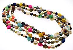 Multi Color Pearl Necklace