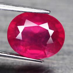 Vivid 4.86ct Imperial red oval cut Ruby