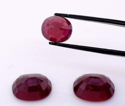 Glittering set of 2 Large & 1 Small Lot of Rubies, 30.74ctw