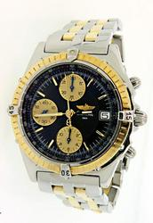 Men's Breitling Two Tone Chronograph Watch