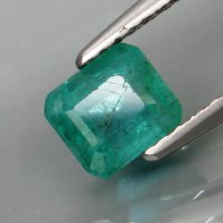 Top green 1.07ct unheated Colombian Emerald
