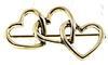 Tiffany & Co Vintage Sterling Silver Hearts pin Brooch