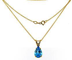 Gorgeous Blue Topaz and Diamond Necklace