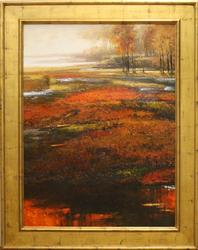 Fire of Fall by K. Adams, Original Oil on Canvas