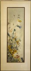 Yellow Butterfly by Sister Kinue Matsuzaki, Original Watercolor on Paper