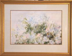 White Flowers by Sister Kinue Matsuzaki, Original Watercolor on Paper