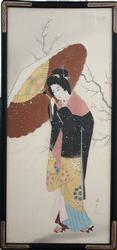 Geisha by Unknown, Original Painting on Silk