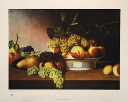 Still Life with Fruit 1821, by James Peale, Poster