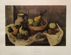 Still Life with Fruit 1943, by Karl Hofer, Poster