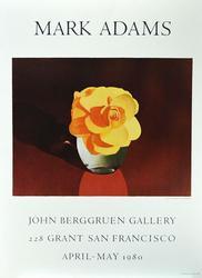 Mark Adams Exhibition Poster, John Berggruen Gallery