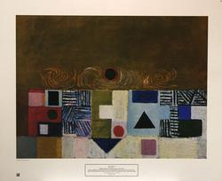 Victor Pasmore Poster, Square Motif, Blue and Gold: The Eclipse